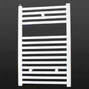 Ultraheat Chelmsford 764 x 500mm Straight White Bathroom Towel Warmer Radiator | Suitable for Dual Fuel and Electric Heated